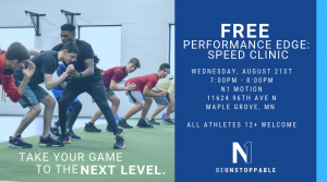 Performance Edge: Speed Clinic @ N1 Motion | Maple Grove | Minnesota | United States